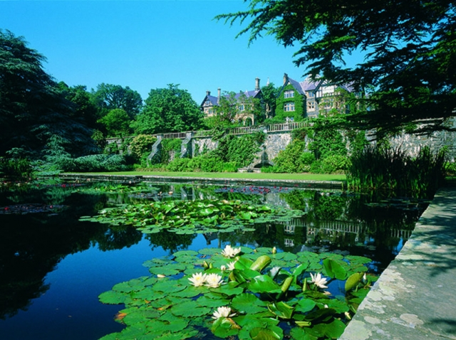 Beautiful pool in Bodnant gardens, North Wales