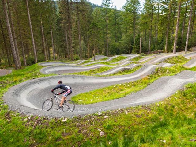 Mountain Biking at Coed y Brenin trail centre Snowdonia Gwynedd