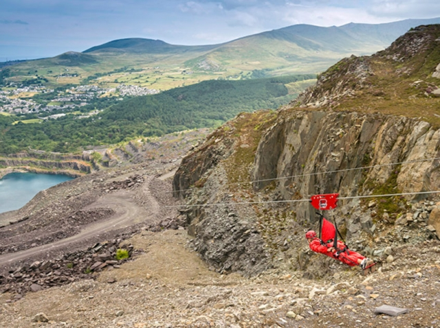 Giant Zip Wire, Iestyn George, North Wales