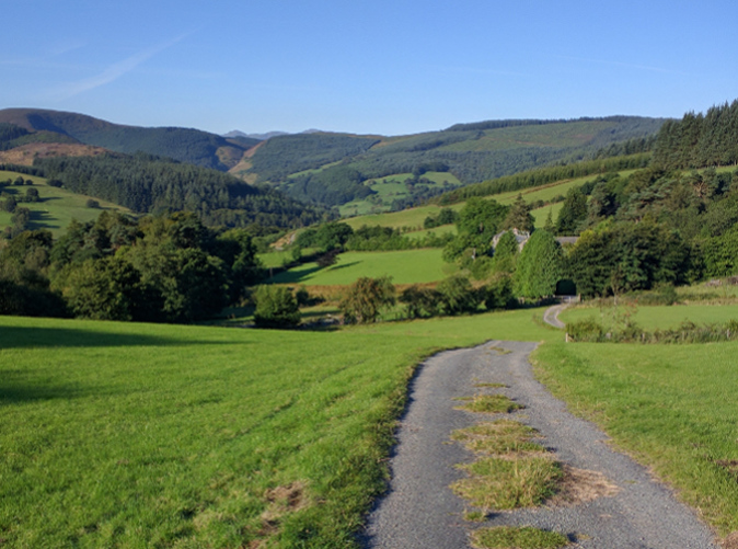 Secret and secluded biking roads near Bala